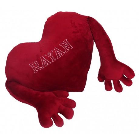 Corazón personalizable con manos 60 y 90cm