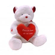 Oso Blanco con corazón personalizable: 135/165cm